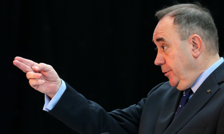Mr Salmond taking questions from the media at the release of the White Paper in Glasgow.
