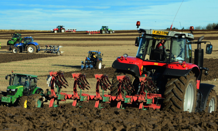 East Fife Young Farmers' reversible ploughing at East New Hall Farm