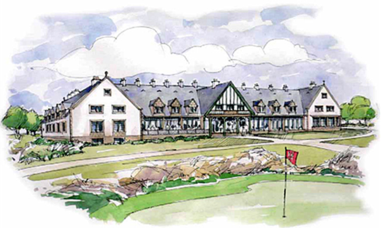 An artist's impression of the clubhouse at the development.