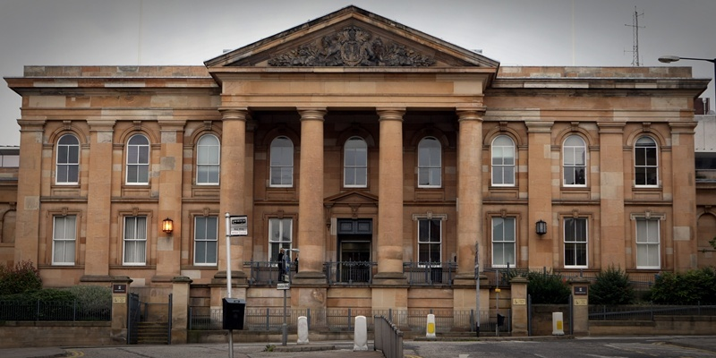 Building exterior of Dundee Sheriff Court also High Court, Dundee.