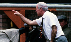 Jim McLean making his feelings crystal clear from the dug-out in a match against Rangers. The Finn said McLean was a tactical genius  but was not the best man-manager.
