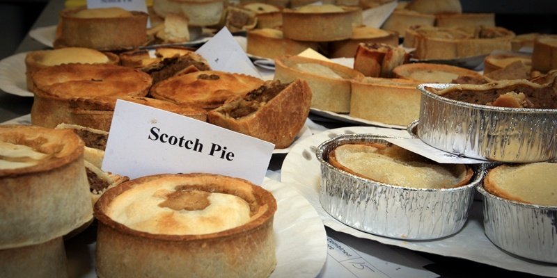 John Stevenson, Courier, 15/11/11. Fife. Dunfermline. Carnegie College, The World Scotch Pie Championship. Pic shows Pies, Pies and more Pies awaiting judging.