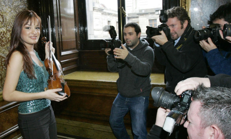Nicola Benedetti described the pressure she felt after winning the Young Musician of the Year title.