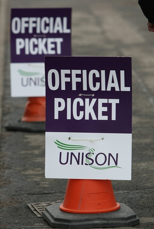DOUGIE NICOLSON, COURIER, 30/11/11, NEWS.PUBLIC SECTOR STRIKE MARCH, DUNDEE.FOR FILES/FILLER PIC.