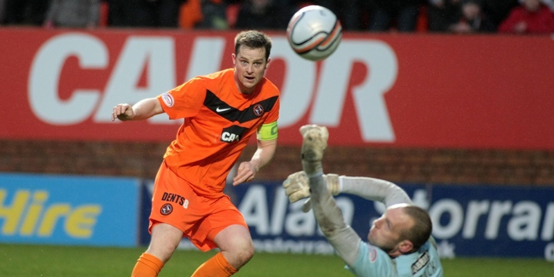 Kim Cessford, Courier - 24.12.11- Clydesdale Bank Scottish Premier League -  Dundee United v Hibs at Tannadice - Jon Daly scores his second goal