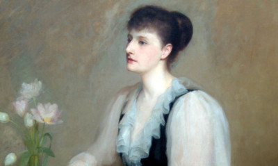 A portrait of Violet Jacob by Henry Harris Brown.