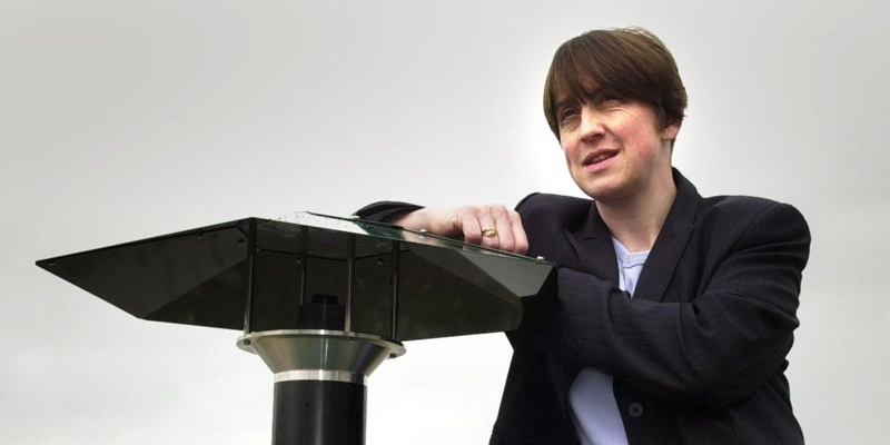 """Dr Alison Blackwell of Edinburgh University at the launch of the 'The Midgeater' (left) device at the Loch Lomond Shores Visitor Centre, Scotland. The reign of the midge over summer visitors to Scotland may be drawing to an end, it was claimed.  * The Midgeater, a device designed to combat the biting summer pest, was given a fitting launch on the banks of Loch Lomond, an area popular with tourists - and midges. Dr Blackwell, a world-renowned scientist in the field, claims the problem will be """"greatly reduced"""" by the introduction of the Midgeater."""