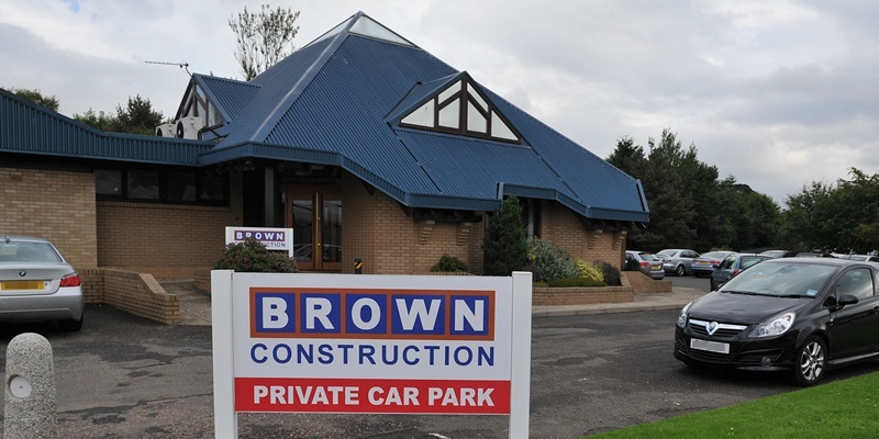 Kim Cessford - 20.08.12 - pictured is the head office of Brown Construction, Ainslie Street, West Pitkerro Industrial Estate