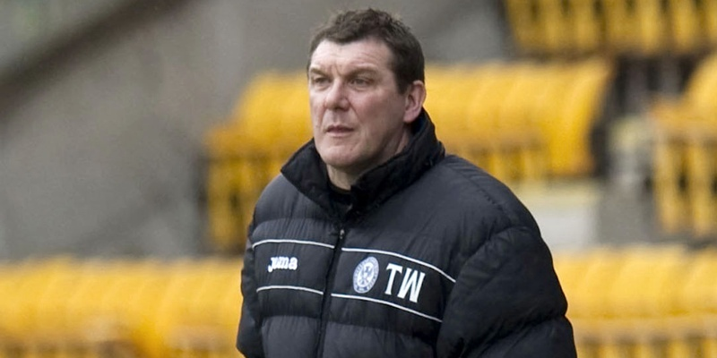 25/02/12 CLYDESDALE BANK PREMIER LEAGUE ST JOHNSTONE V DUNFERMLINE (3-1) MCDIARMID PARK - PERTH St Johnstone assistant manager Tommy Wright