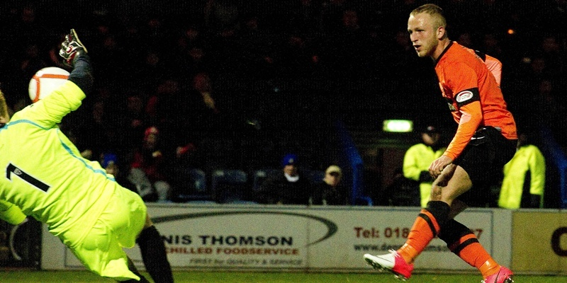 25/09/12 SCOTTISH COMMUNITIES LEAGUE CUP 3RD RND QOTS v DUNDEE UTD (0-1) PALMERSTON PARK - DUMFRIES United's Johnny Russell breaks the deadlock on 28 minutes.