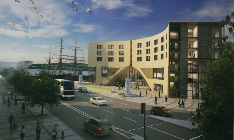 The planned new Dundee railway station.