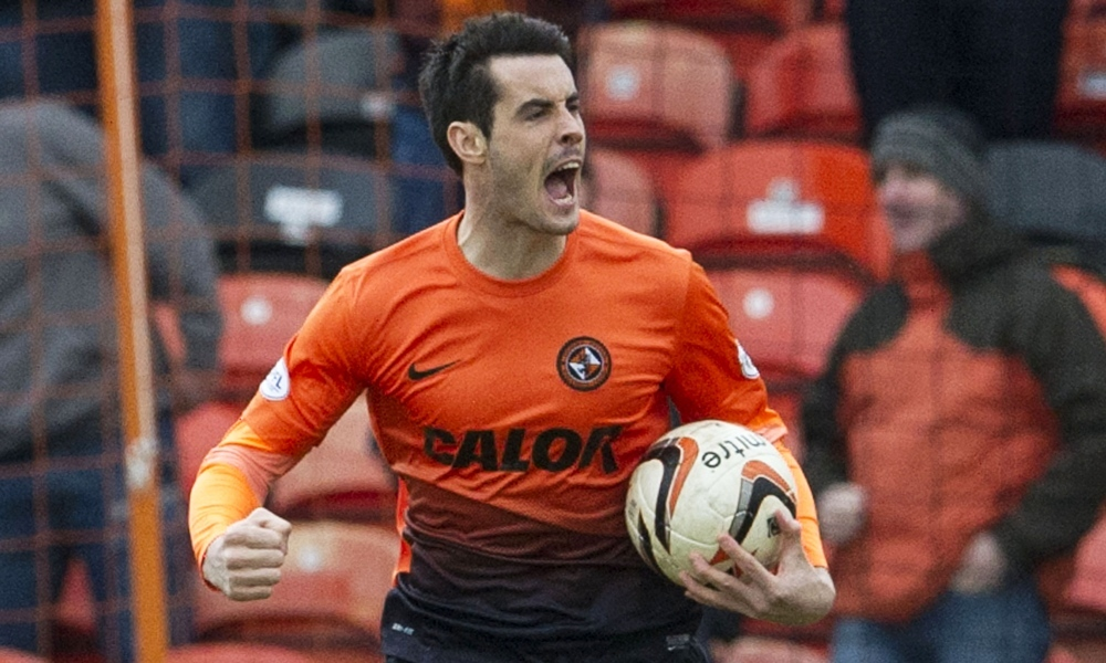 15/03/14 SCOTTISH PREMIERSHIP DUNDEE UTD V ST MIRREN TANNADICE - DUNDEE Brian Graham races back up the park after pulling a goal back for Dundee Utd