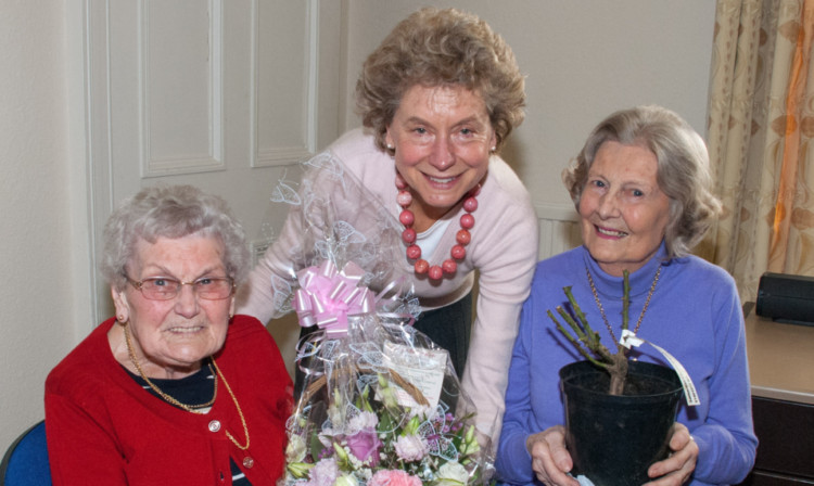 Edna McGregor, Perth Samaritans chairwoman Issie Adams and Rosemary Leslie.