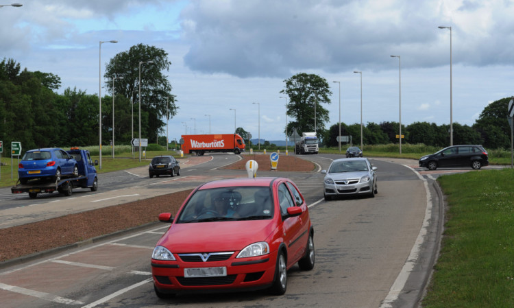 The Balfarg junction, north of Glenrothes, on the A92.