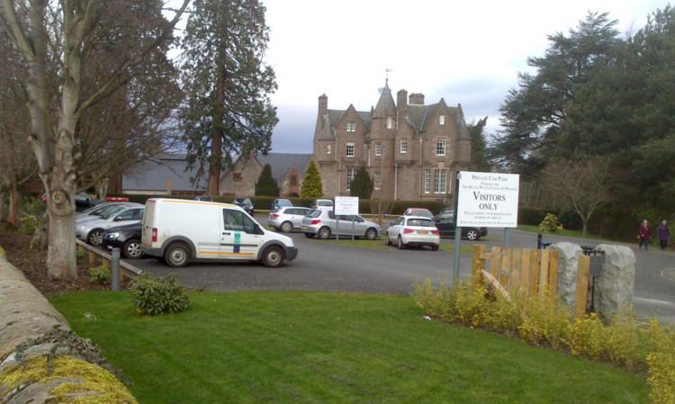 Mr Stewarts photograph of the parking attendants van in the car park at Balhousie Castle.