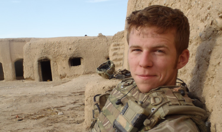 Sapper Sean Cameron, who was awarded the Queens Commendation for Bravery.