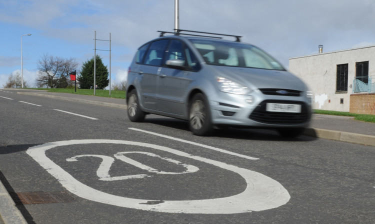 A 20mph sign in the citys Lothian Crescent.