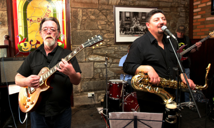 Groove-a-Matics playing at McDaniels at the Dundee Blues Bonanza.