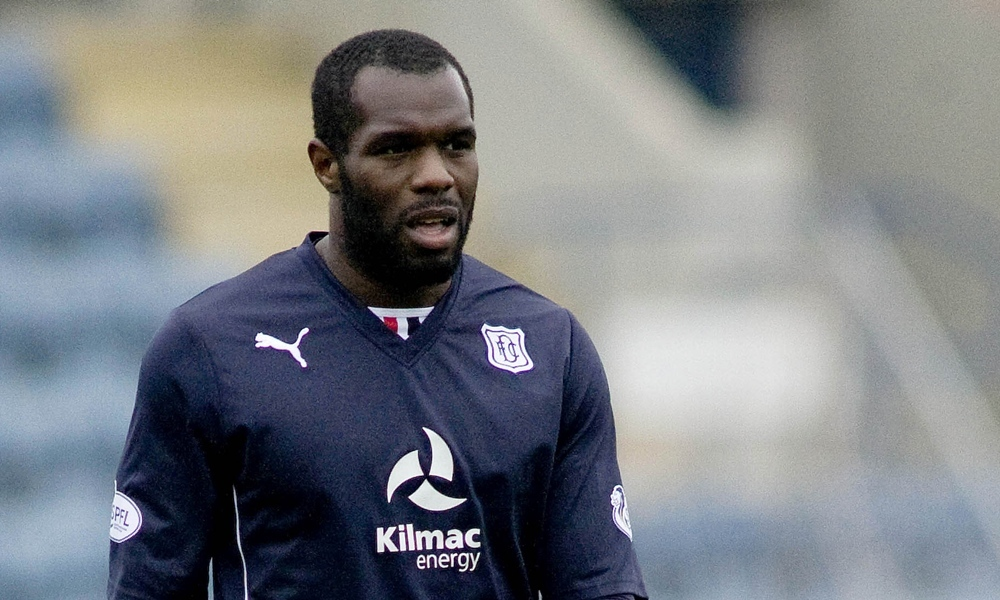29/03/14 SCOTTISH CHAMPIONSHIP DUNDEE v FALKIRK (0-1) DENS PARK - DUNDEE Christian Nade in action for Dundee