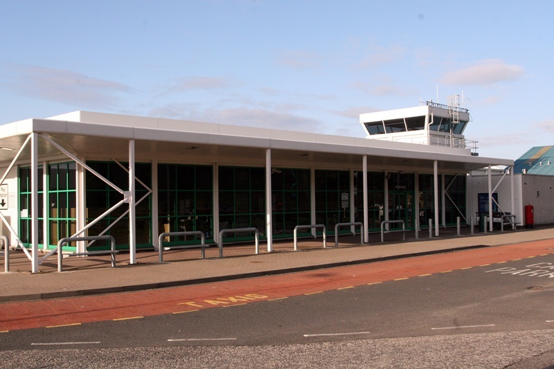 Dundee Airport, Riverside Drive, Dundee - A quiet terminal due to the Icelandic volcanic eruption