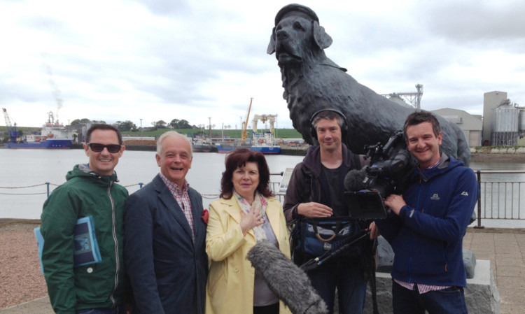 From left: director Tony Kearney, Andrew Orr, Elaine C Smith, sound engineer Martin Cunningham and cameraman Phil Gurney.