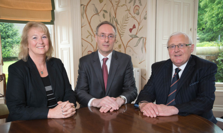 Hilary Eldridge, John Leith and Jack Robertson seal the merger creating a new force in the Scottish legal sector