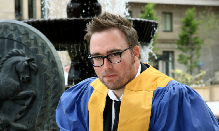 Danny Wallace received an honorary degree.