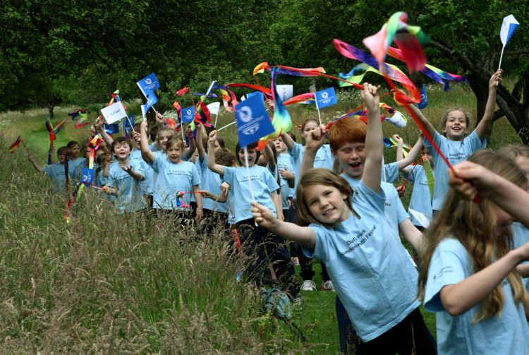 The Queens Baton Relay ended its day-long tour of Fife with a party in St Andrews on June 26. The Couriers Dougie Nicolson was there to see the crowds cheer the baton on its way through North Fife throughout the afternoon. Photo shows some of the children who took part in the community event in the grounds of Falkland Palace.
