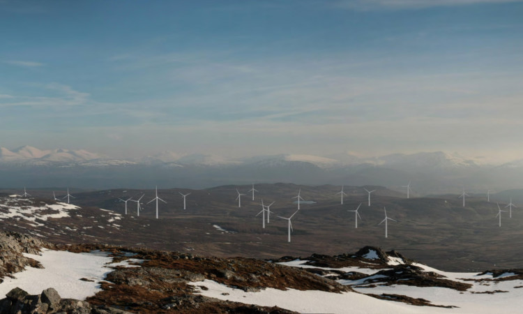 Campaigners say a windfarm at Rannoch Moor would destroy the area, as shown in this enhanced image.