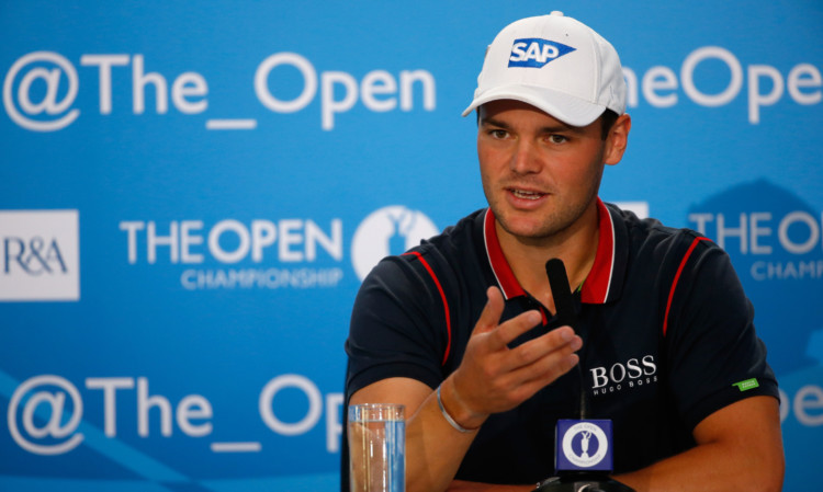 Martin Kaymer speaks to the media on Tuesday.