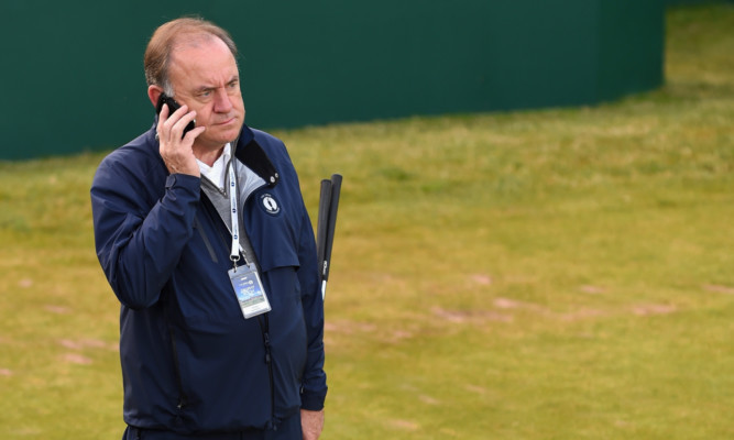 Peter Dawson was asked about the professor's comments by the media covering The Open at Hoylake.