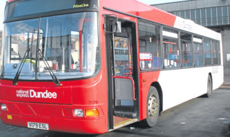 Driving ahead: Dundee bus operator National Express said it had made important progress in the first half.