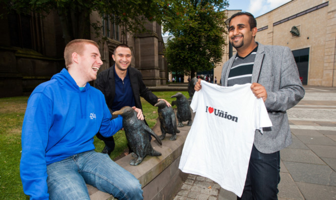 From left; Iain MacKinnon, Stefan Tomov  and Ameen Rehman.
