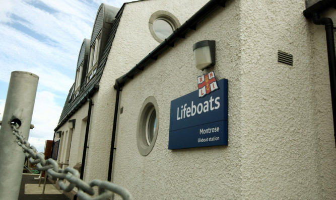 The RNLI lifeboat station at Montrose.