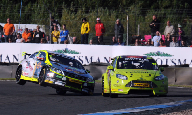 There was spectacular action at Knockhill throughout the weekend.