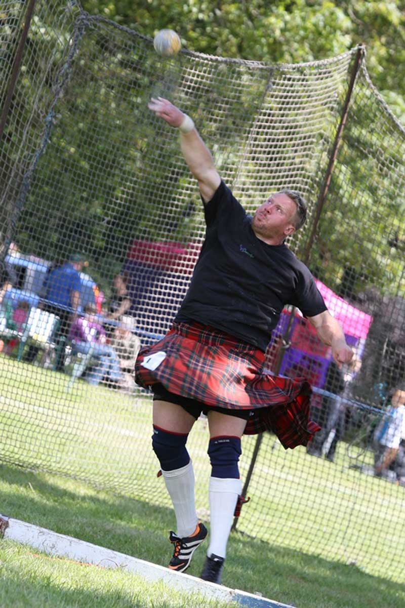 Kris Miller, Courier, 12/06/11. Picture today at Strathmore Highland Games.