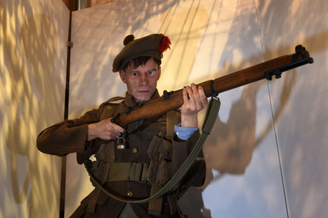 The outbreak of the First World War and its effect in Angus is being marked in a new exhibition in Forfar. The exhibition uses iconic objects, artworks, poetry and slideshows to tell the history of life in the trenches, The Black Watch and of local recipients of the Victoria Cross. Visitors to the Meffan Museum and Art Gallery can also view a selection of war drawings by Sir Muirhead Bone, who was appointed Britains first official war artist in 1916.