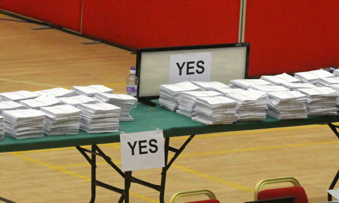 Yes votes at the Dundee count.