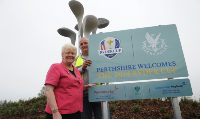 Provost Liz Grant is delighted the Ryder Cup spirit will spread to the streets of Perth city centre.