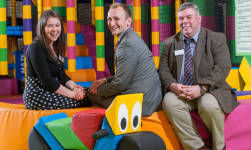 Pic Alan Richardson Dundee, Pix-AR.co.uk.  Free to Use MSP Aileen Campbell minister for children and young people officially opened the Fun Factory a new state of the art soft play area by Dundee Social Enterprise the Factory Skatepark.