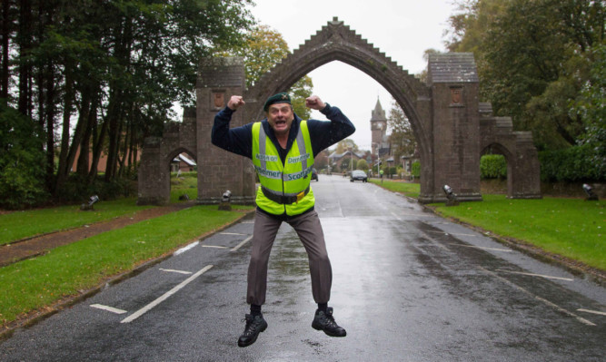 Bobby Campbell back to familiar territory in the shadow of the Edzell arch.