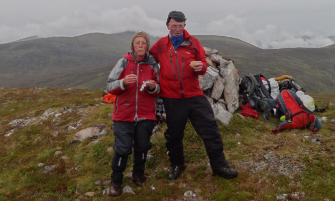The Simpsons on Meall aMhuic as they complete their quest to climb almost every mountain in Scotland.
