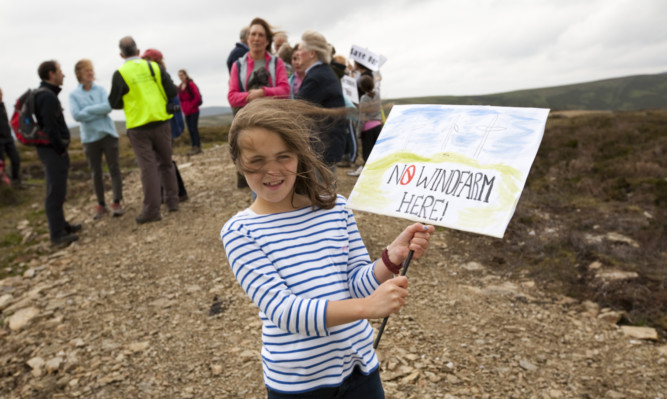 Protesters campaigned against the development at Nathro Hill.