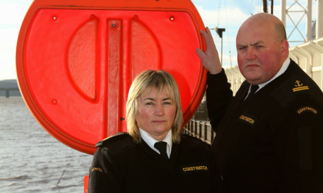 Lynn Bell and Gareth Norman of Coastwatch Scotland are concerned at the number of lifebelts that go missing from along the Riverside.