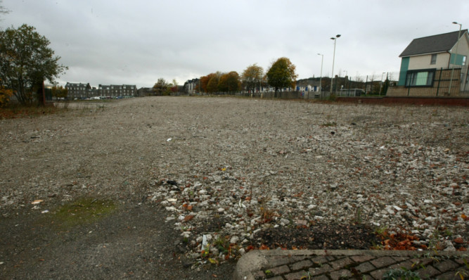The site of the former Alexander Street multis, where there are plans to build affordable housing.