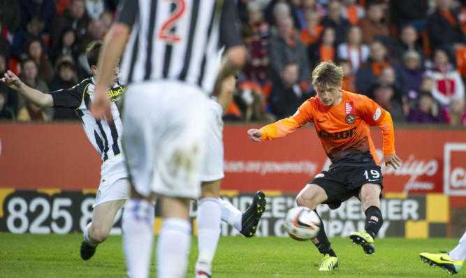 12 months ago Ryan Gauld was scoring United's third against St Mirren.