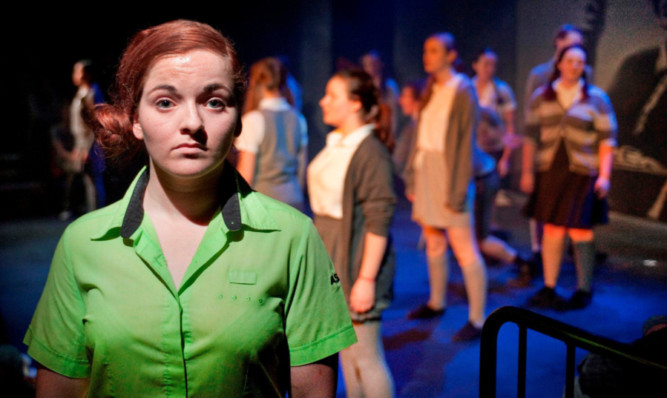 Flora MacKeddie in the Scottish Youth Theatre production of Born Bad.