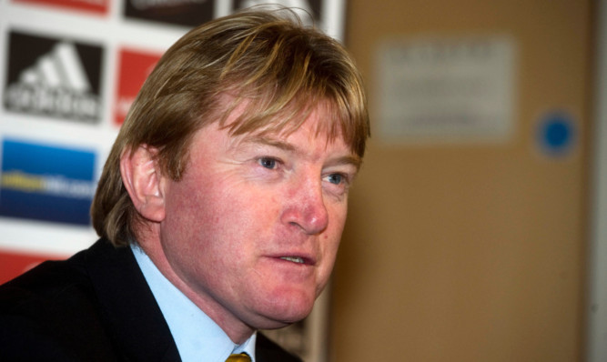 Stuart McCall speaks to the media as he is unveiled as the new Scotland assistant manager.