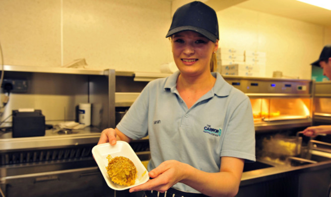 Fryer Sarah Findlay with one of the new delights.