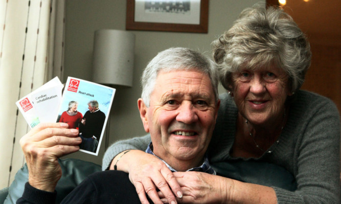 Neil Dingwall and wife Phyllis at home in Balmullo.